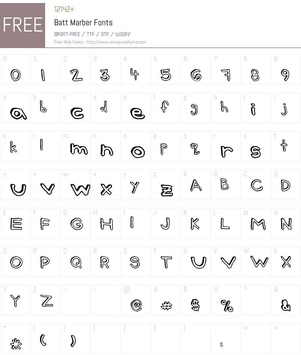 Batt Marber Font Screenshots