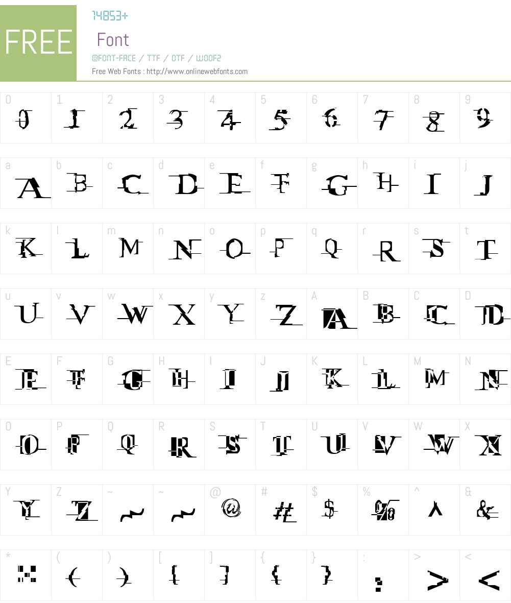 Miltown II Font Screenshots