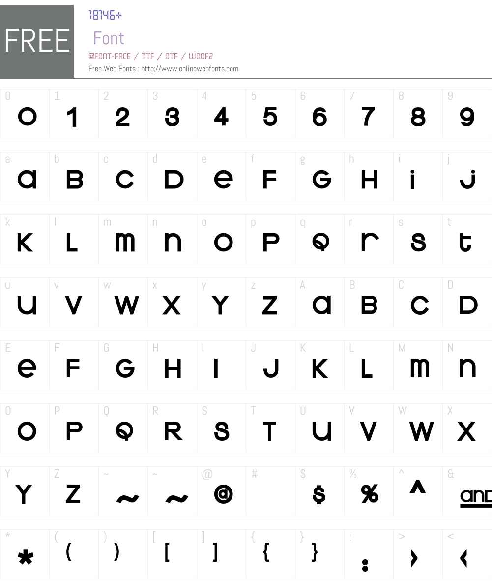 Kravitz Font Screenshots