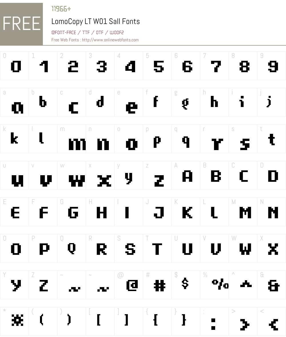 LomoCopyLTW01-Sall Font Screenshots