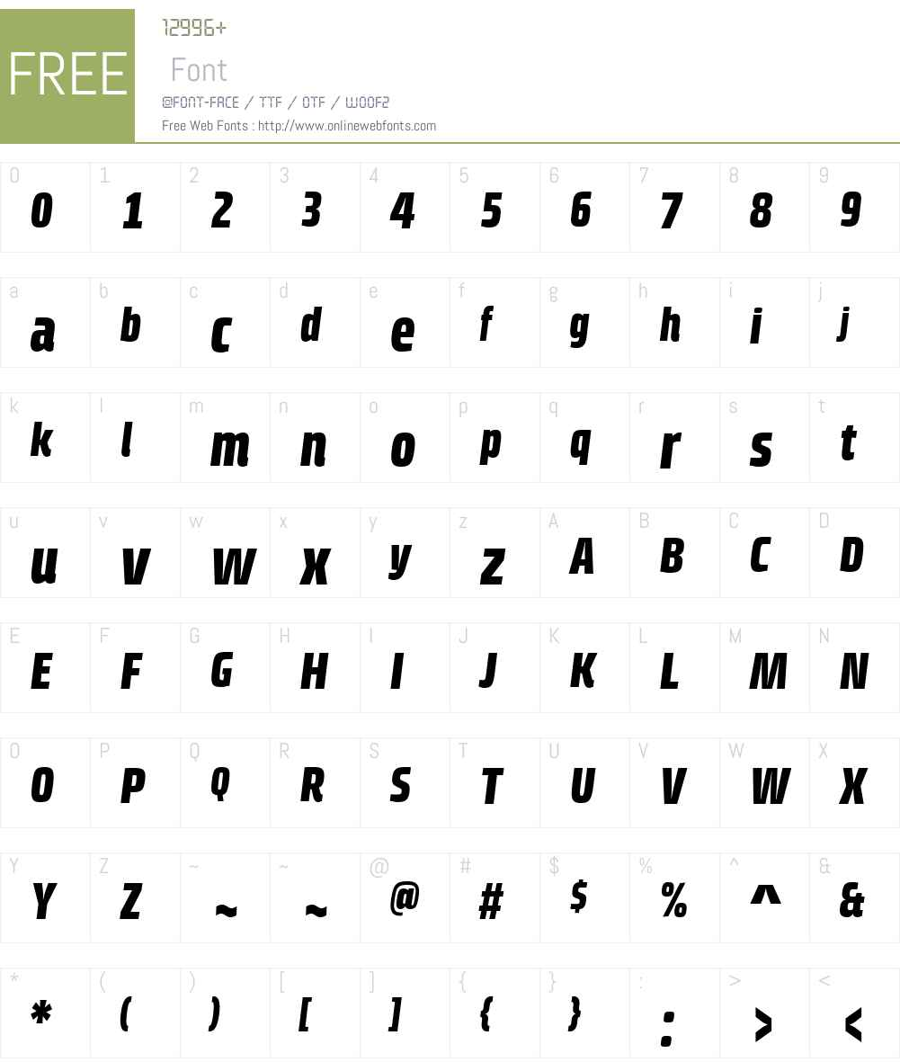 Klint Font Screenshots