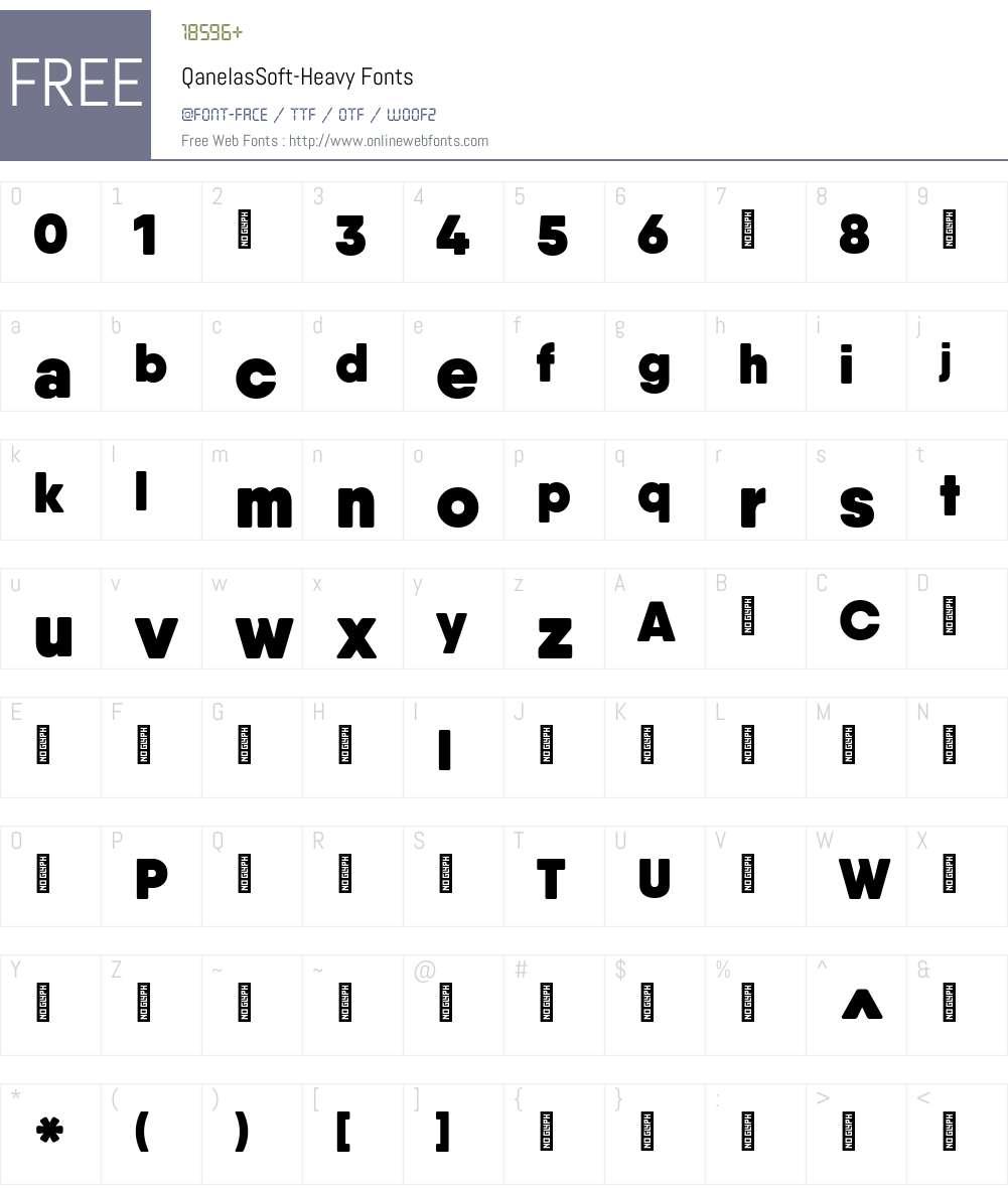 QanelasSoft-Heavy Font Screenshots