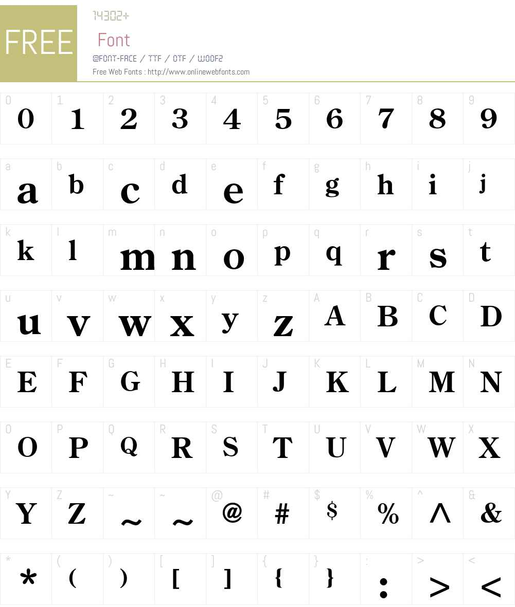 Century Old Style Std Font Screenshots