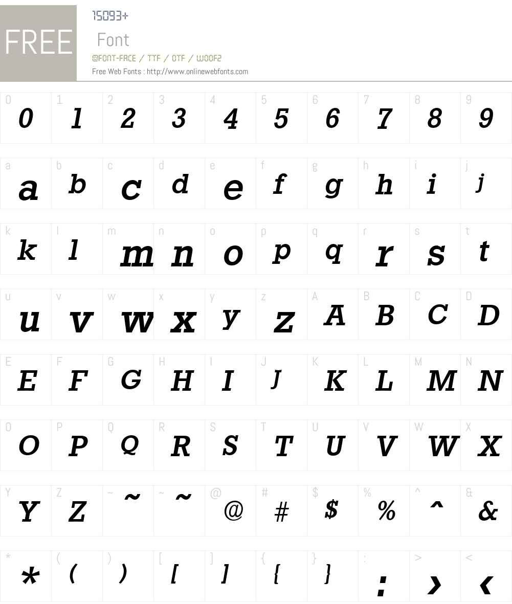 StaffordSerial-Medium Font Screenshots