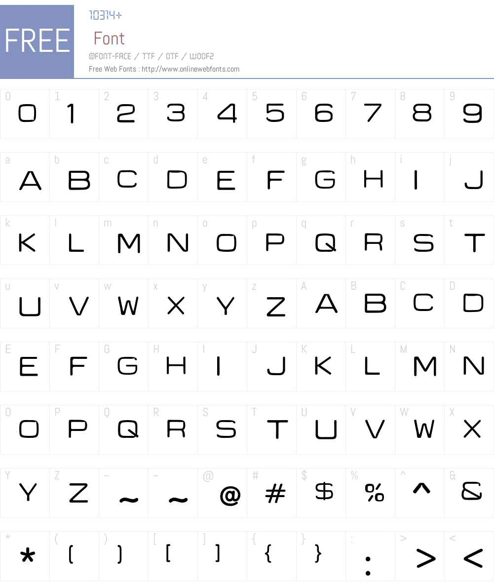 Recycle Font Screenshots
