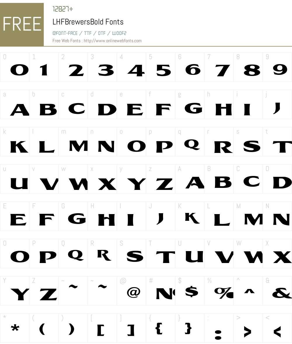 LHFBrewersBold Font Screenshots