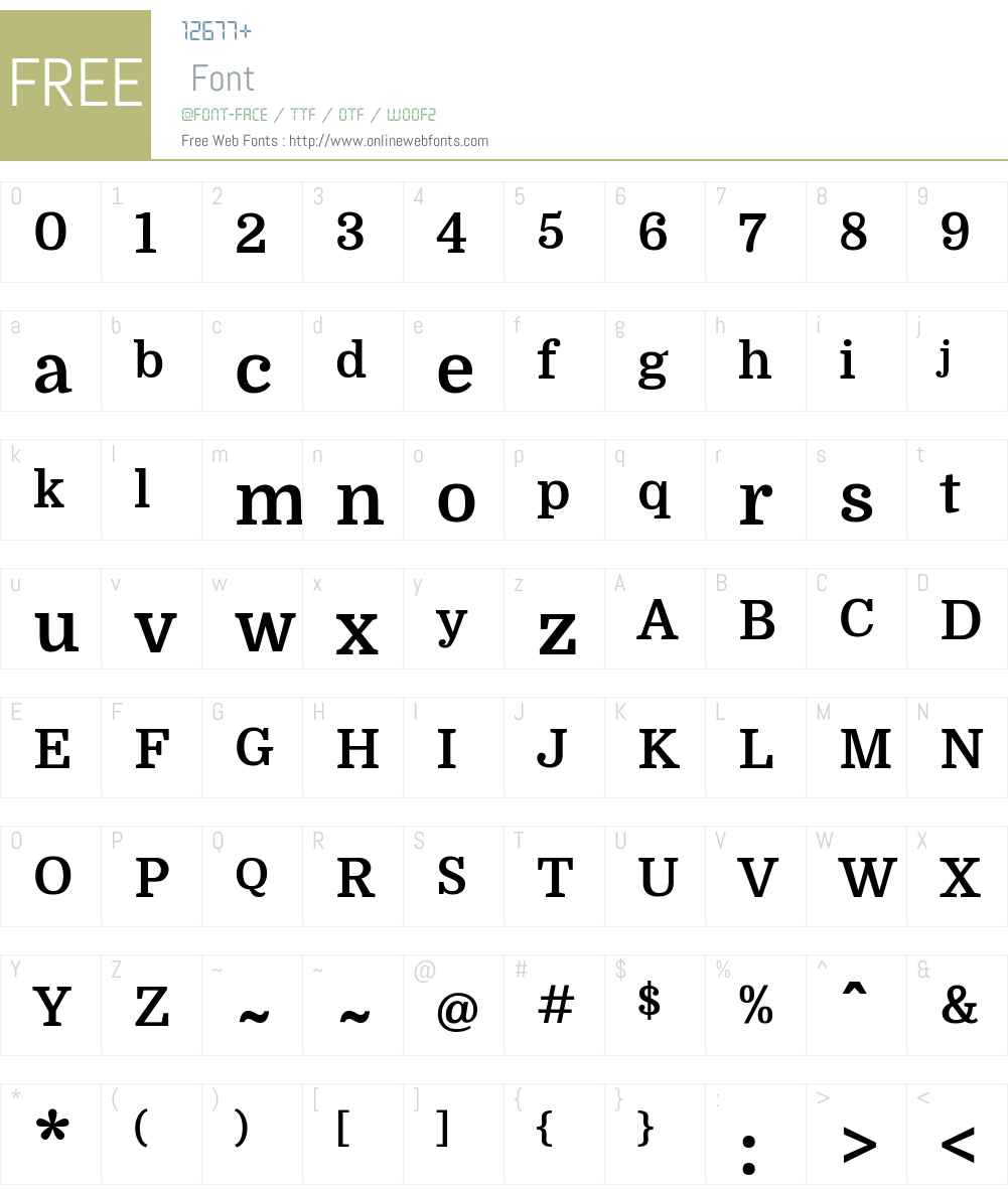 Domine Font Screenshots