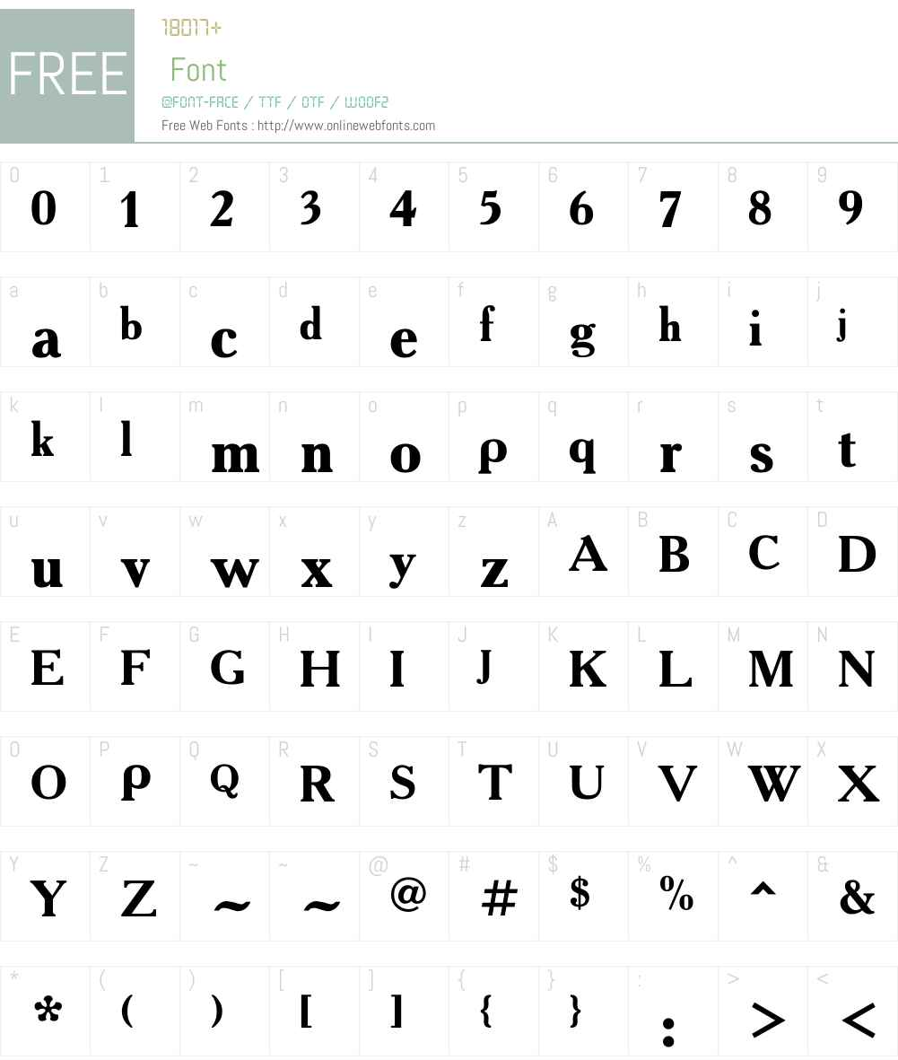 Akademie Alte Font Screenshots