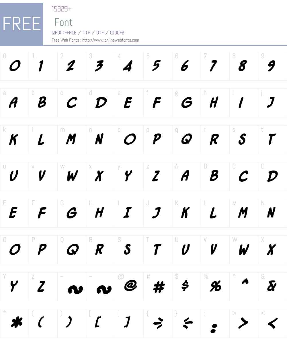 DutyCallsBB-BoldItalic Font Screenshots