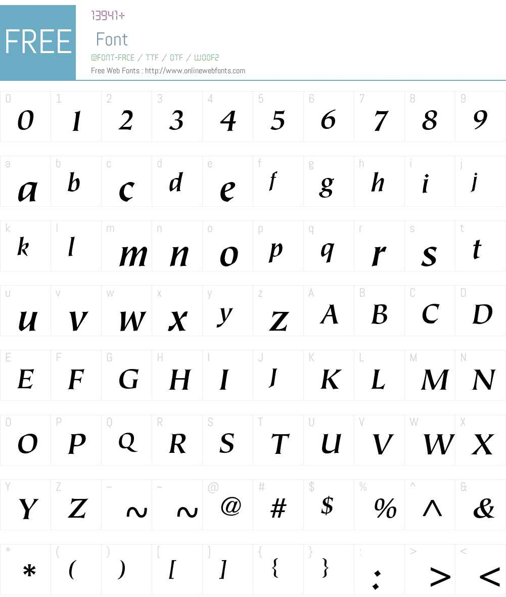 ITC Tiepolo Font Screenshots
