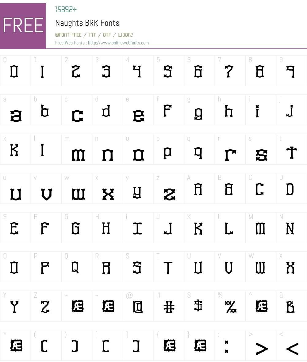 Naughts BRK Font Screenshots