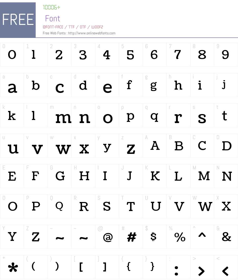 Coustard Font Screenshots