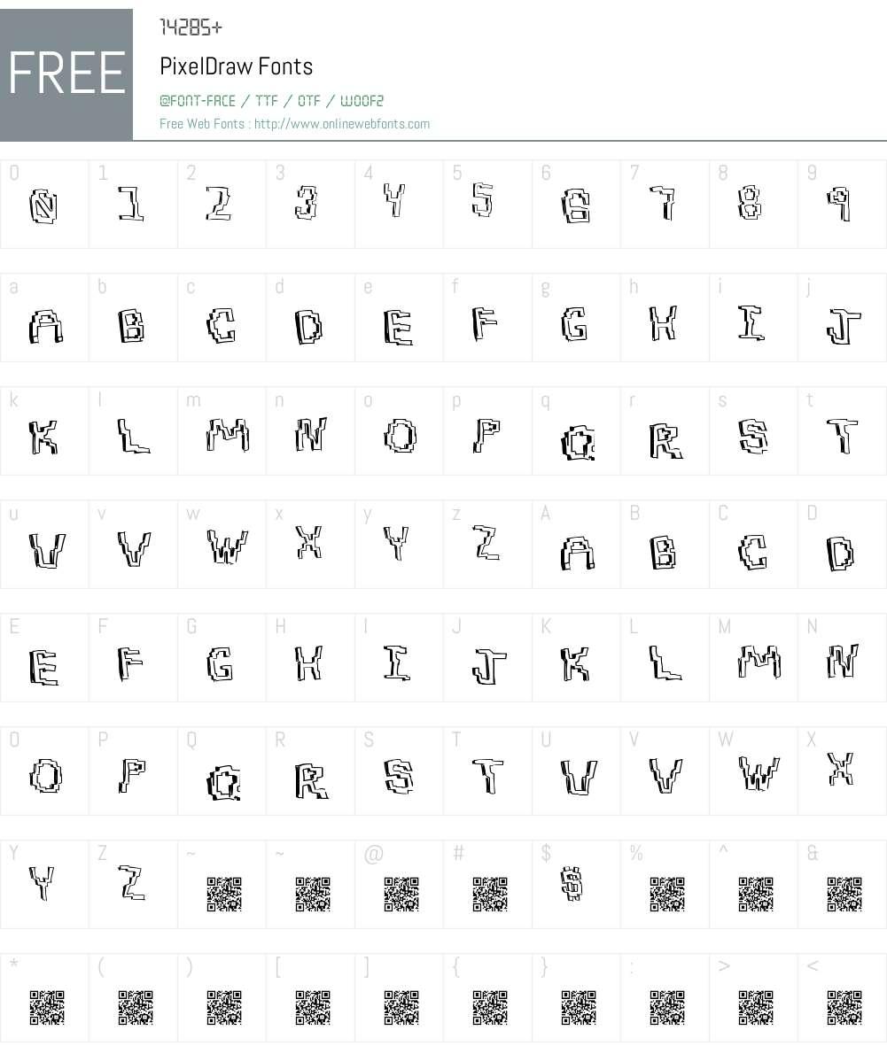 PixelDraw Font Screenshots