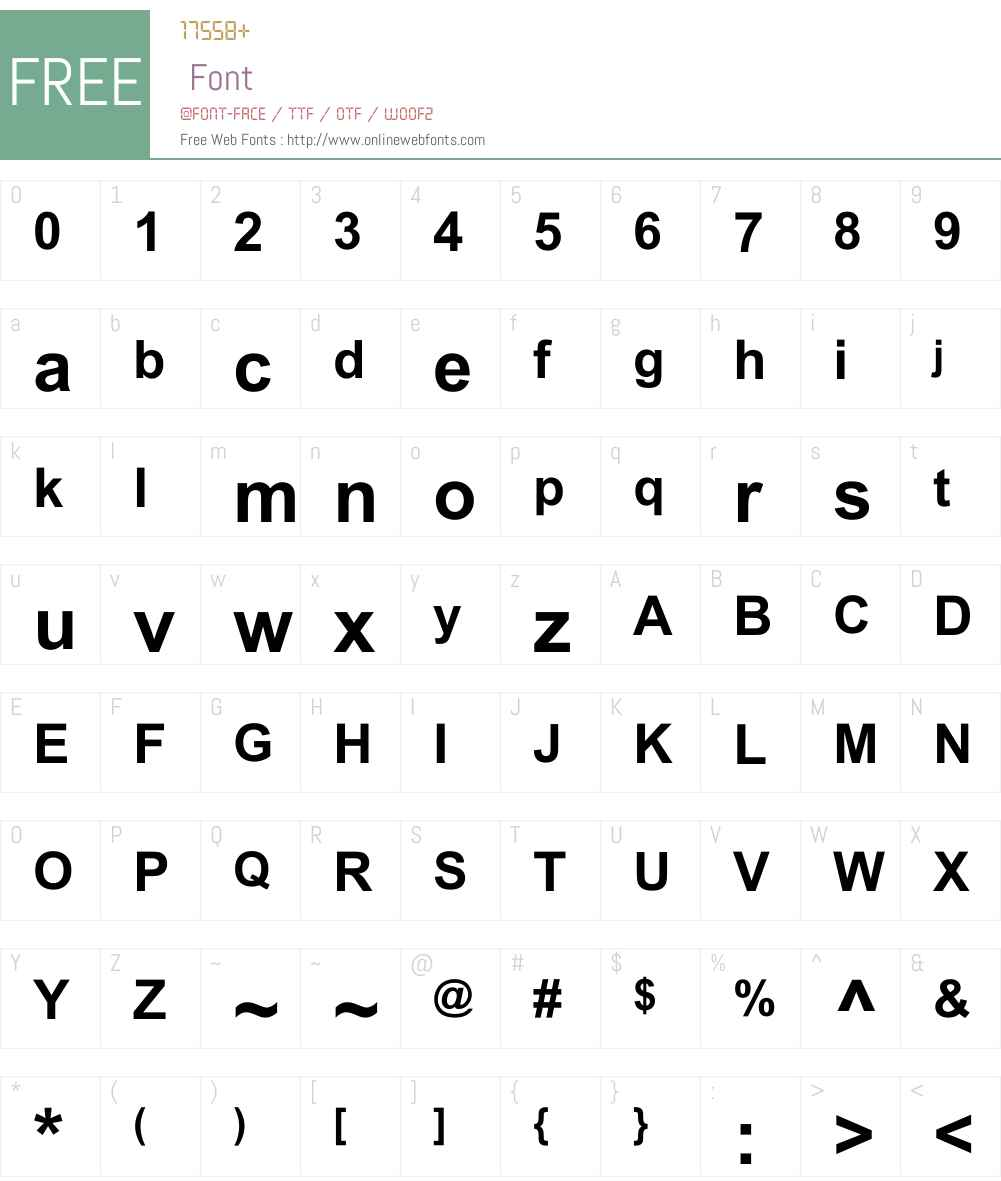 Alpsoft Key Font Screenshots