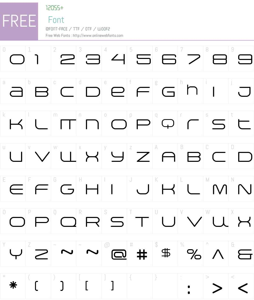 Arkitech Round Light Font Screenshots