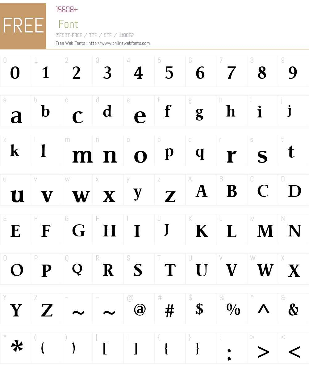 JanteAntiquaW01-Bold Font Screenshots