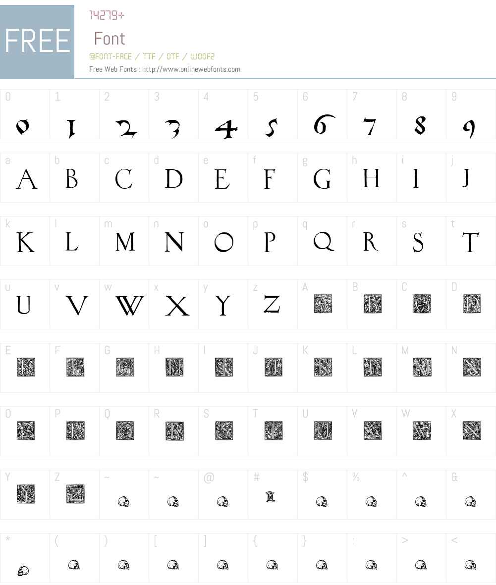 1523HolbeinW90-Regular Font Screenshots