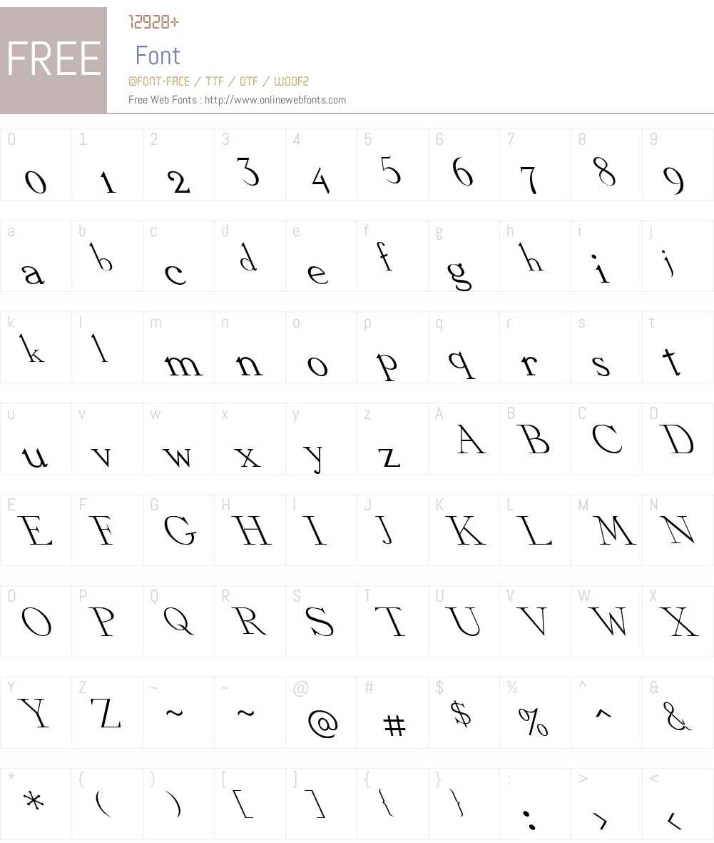 Dickens Extreme Lefty Font Screenshots
