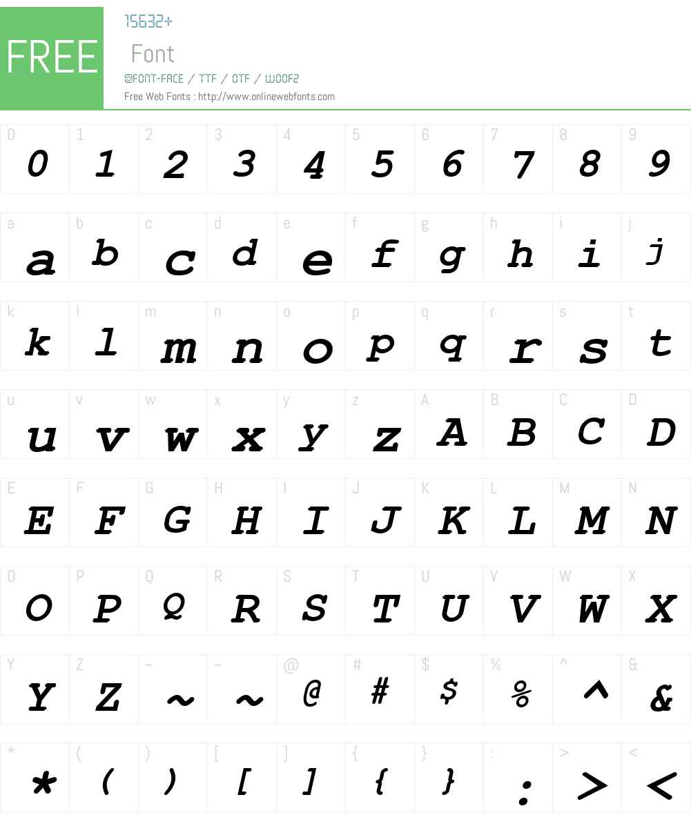 Courier New Cyr Font Screenshots