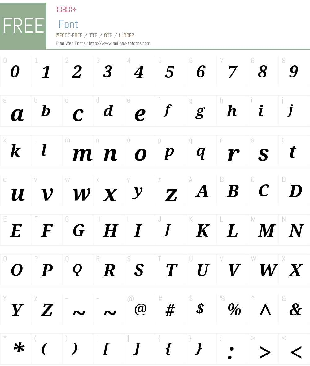 Noto Serif Font Screenshots