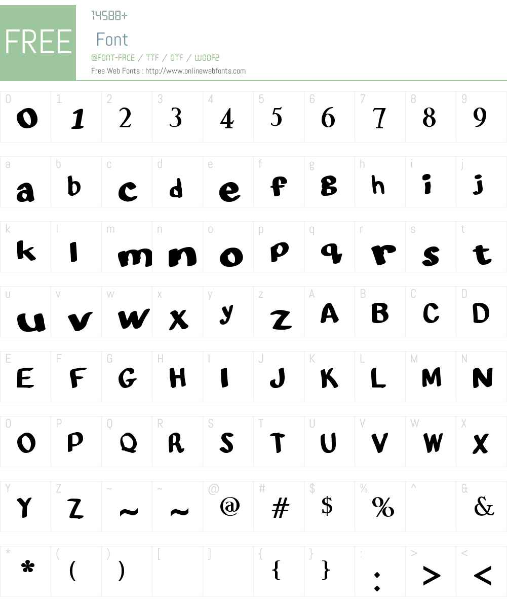 Alligator Soap Font Screenshots