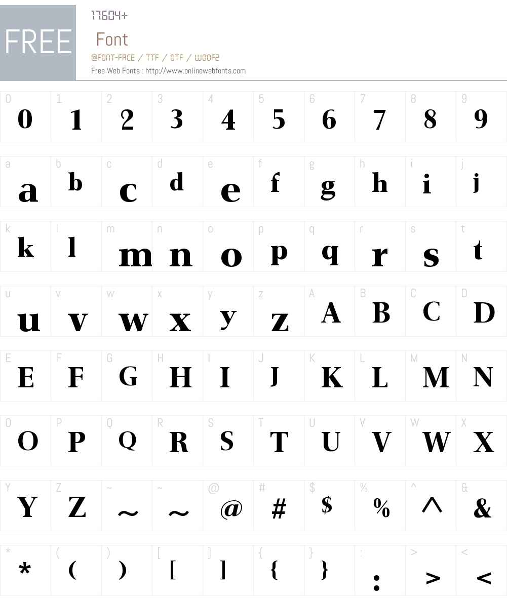 GmuenderAntiquaW00-Bold Font Screenshots