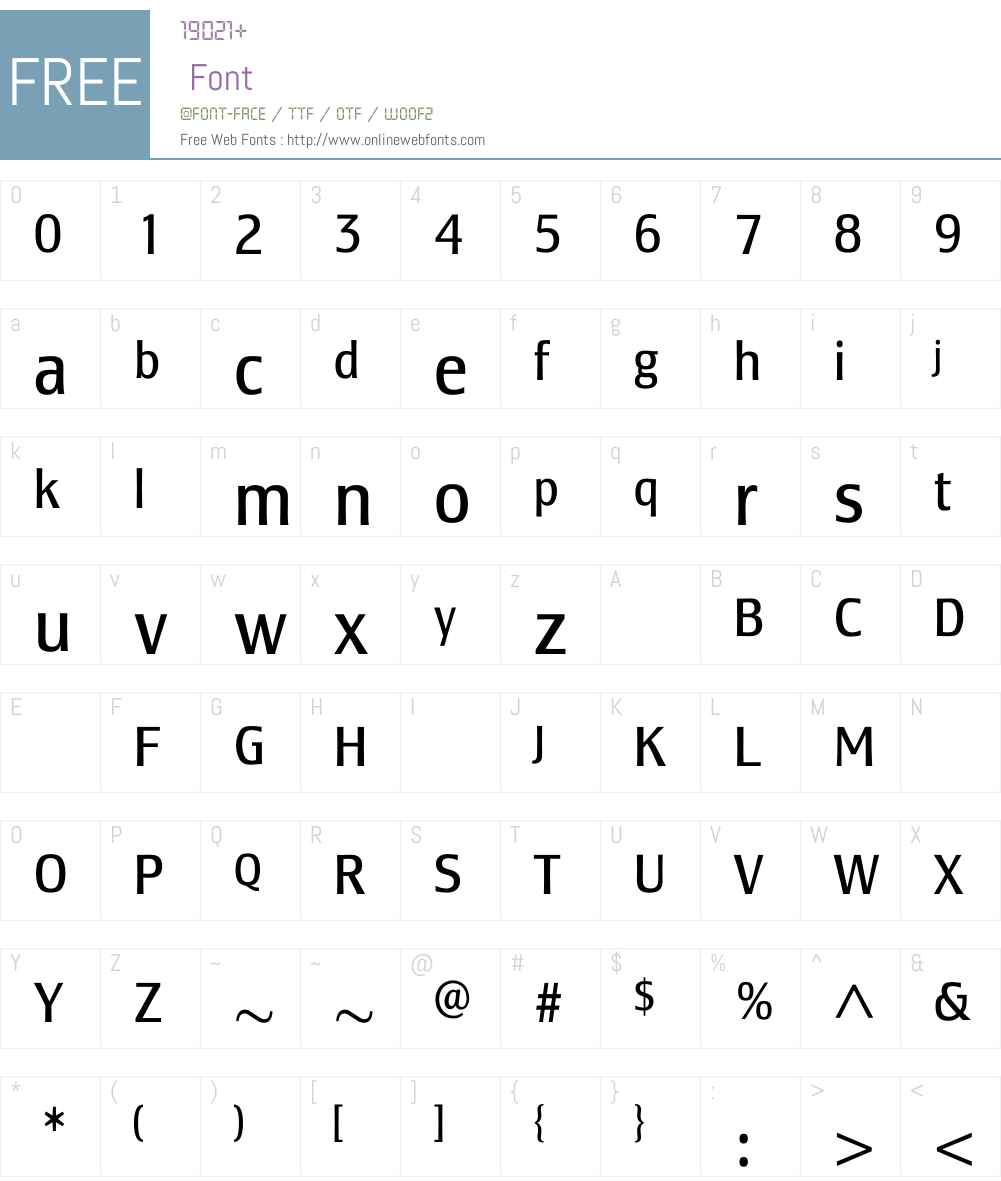 LesmoreBookCondensed Font Screenshots