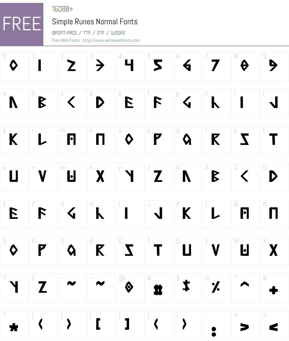 Simple Runes Font Screenshots