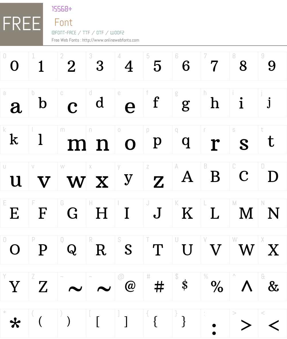 Arbutus Slab Font Screenshots