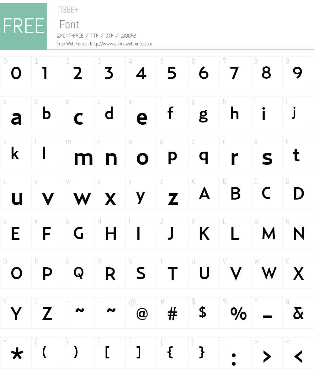 Relay-Medium Font Screenshots