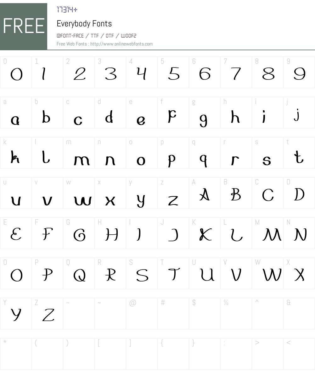 Everybody Font Screenshots