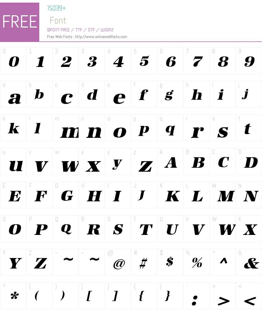 URWAntiquaTUltBolWid Font Screenshots
