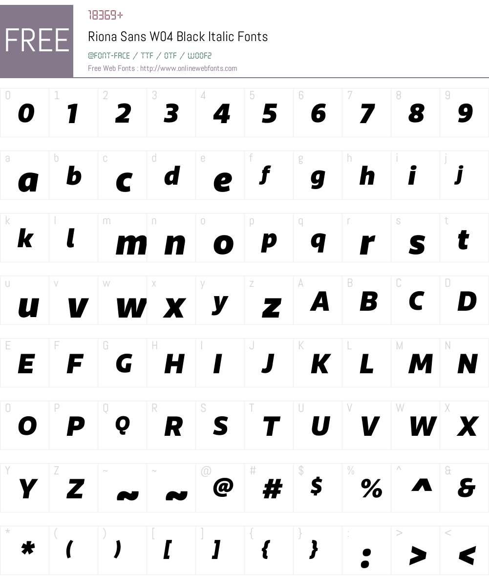 Riona Sans Font Screenshots