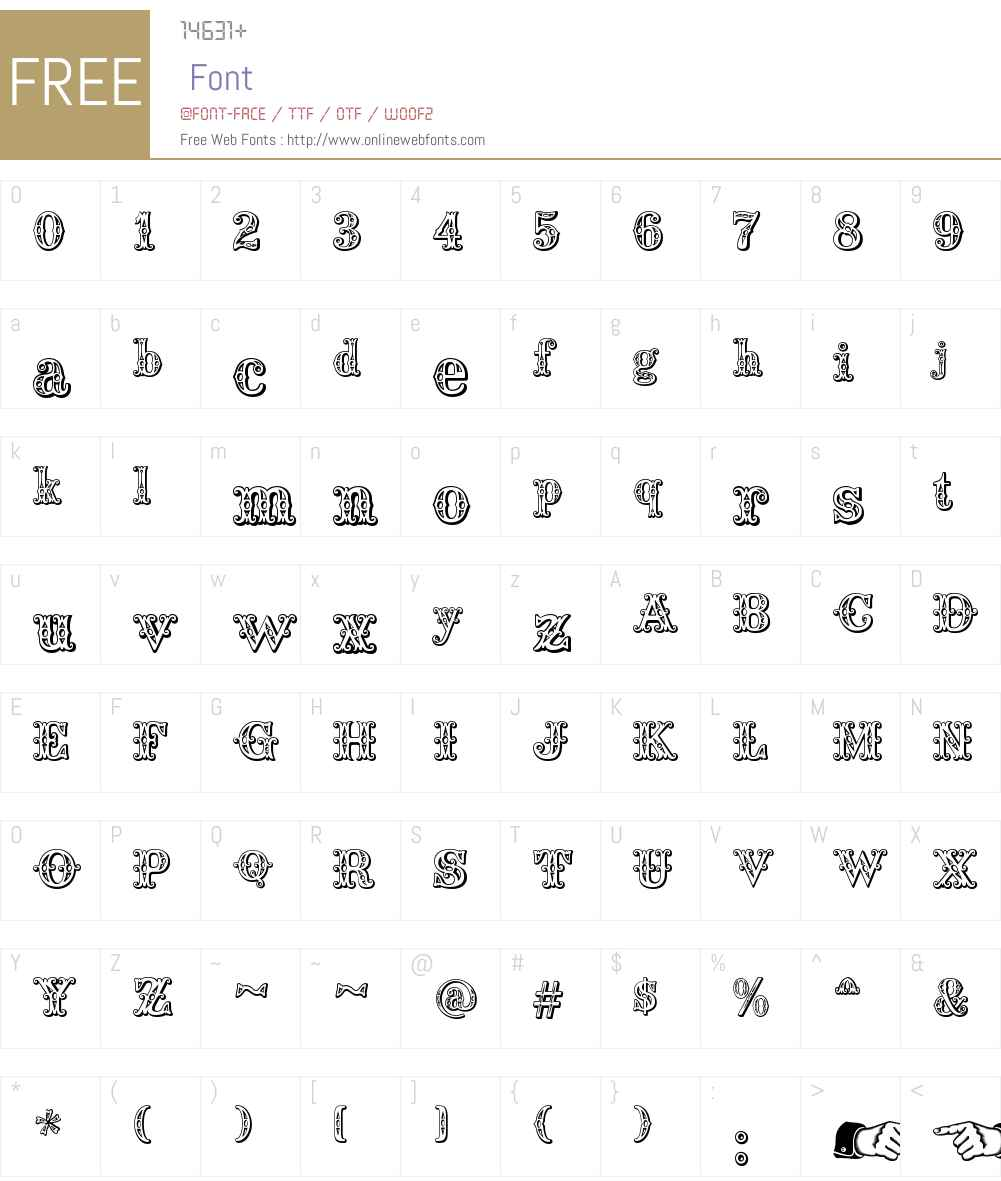 Saddlery Font Screenshots