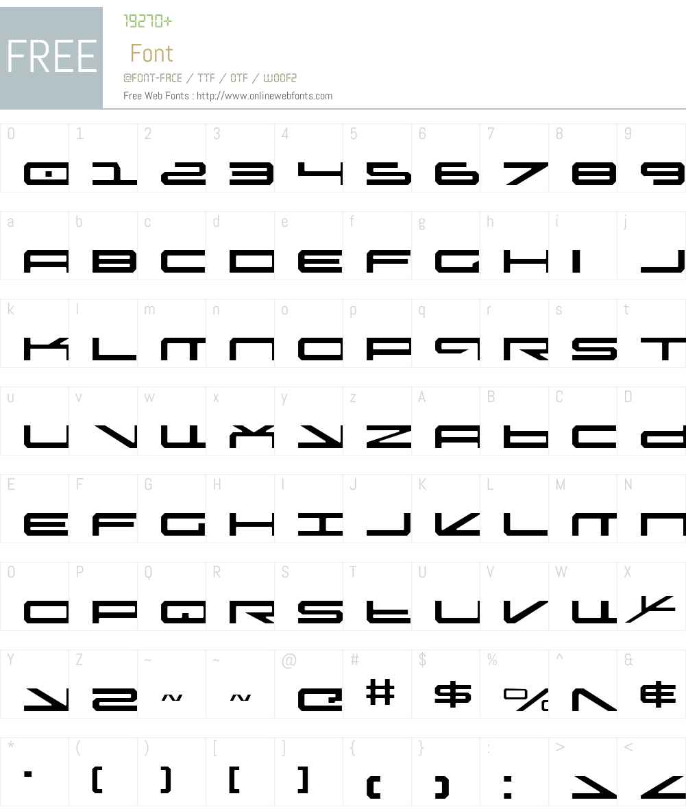 Oramac Light Font Screenshots