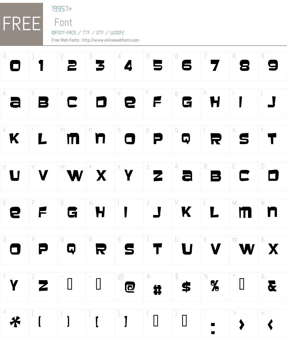 Baveuse Font Screenshots