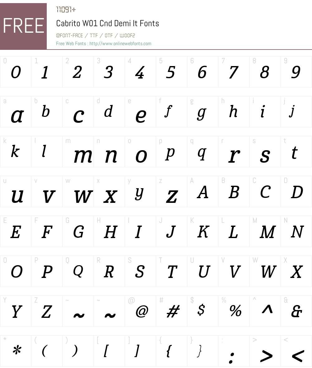 CabritoW01-CndDemiIt Font Screenshots