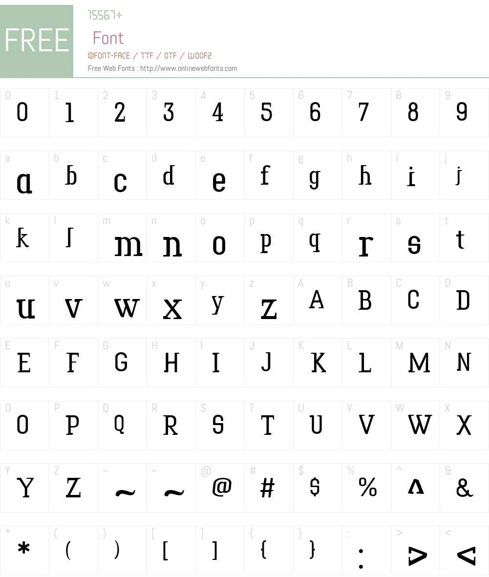 Tower Print Font Screenshots