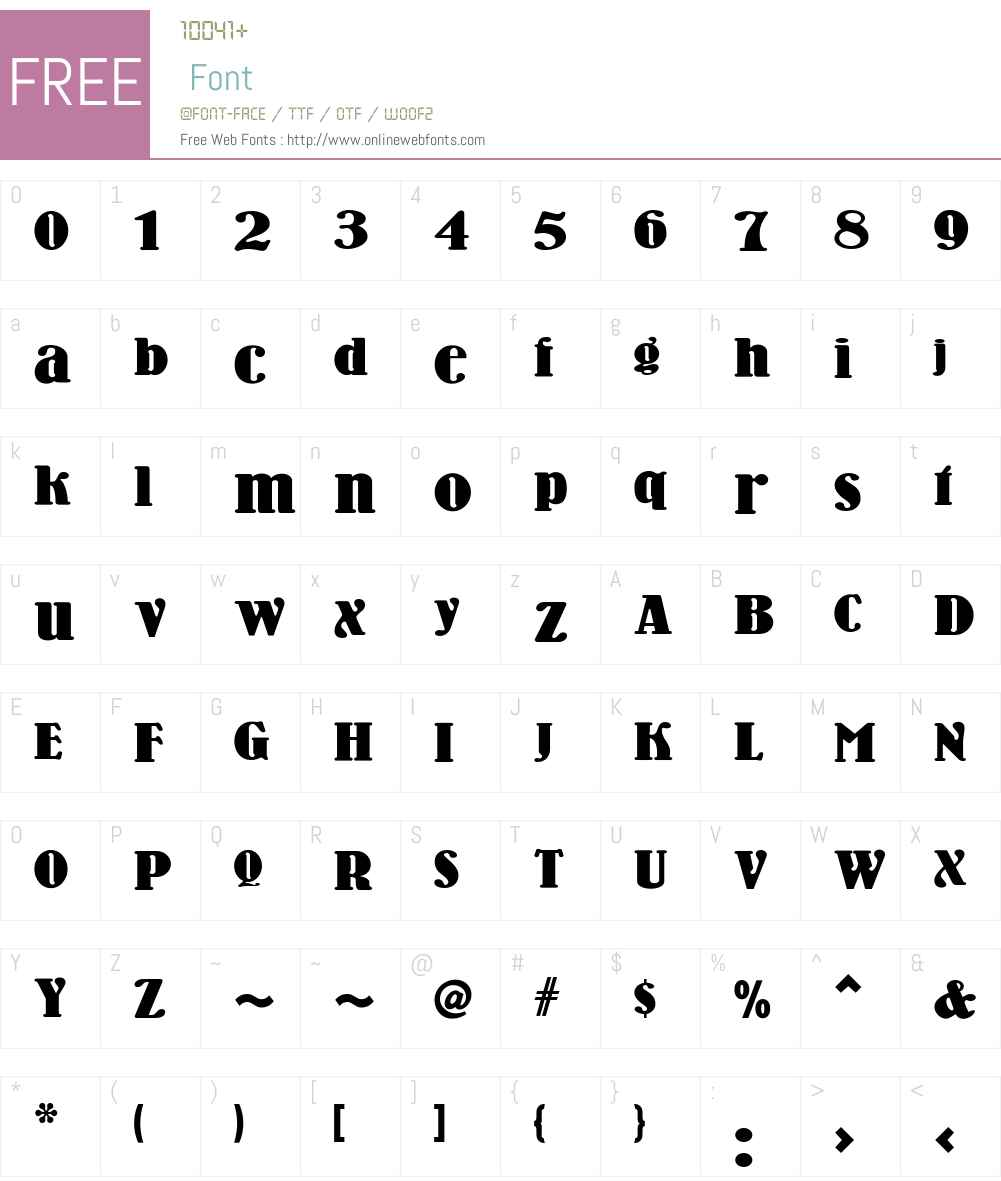 Wooden Nickel NF Font Screenshots