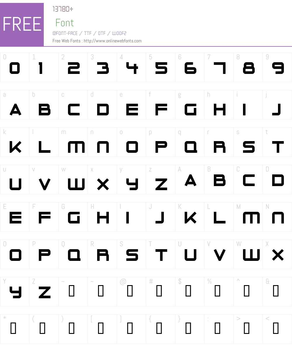 Outer Limits Solid Font Screenshots