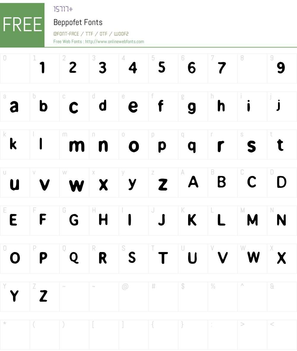Beppofet Font Screenshots