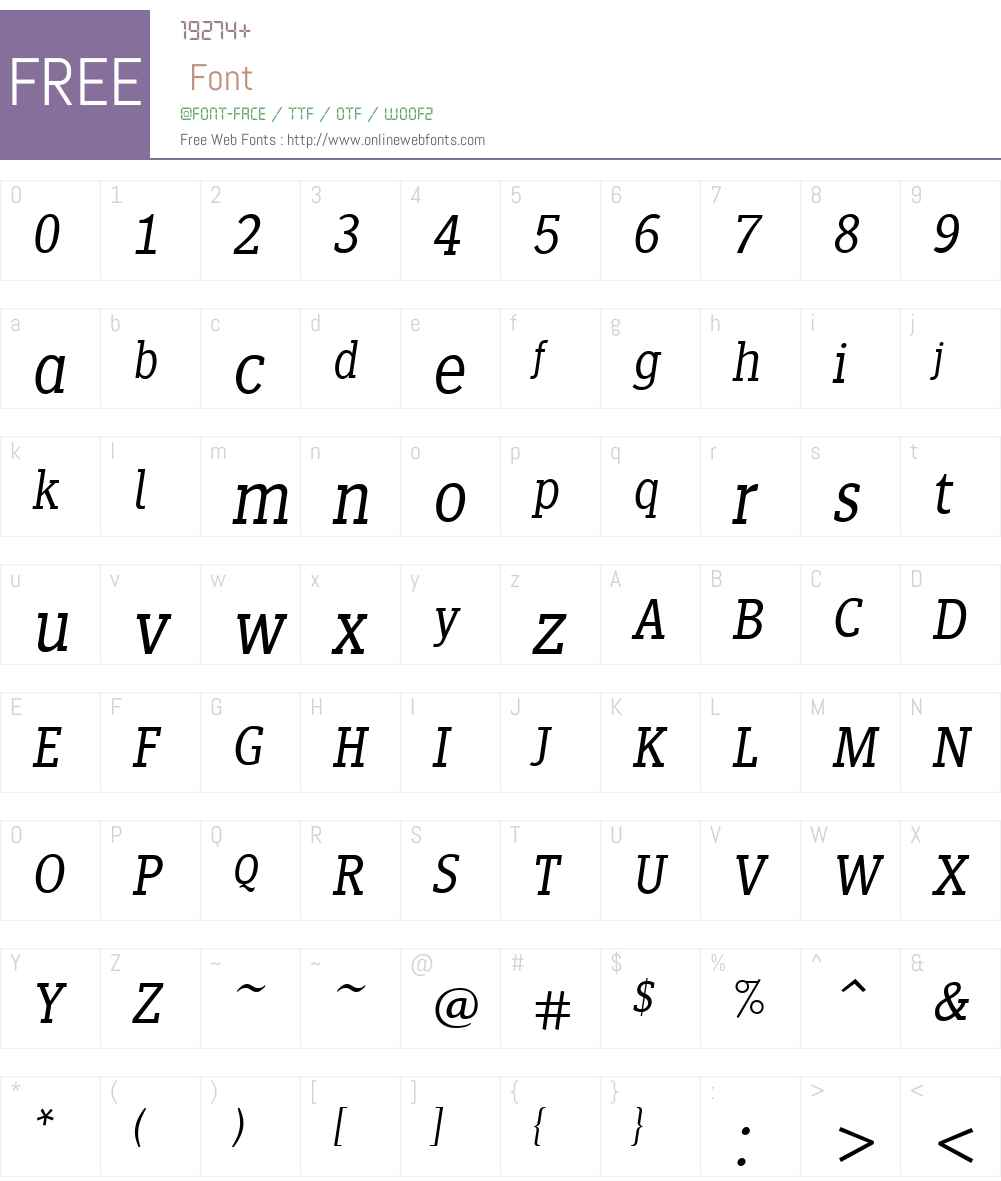 SiseriffLTW01-LightItalic Font Screenshots