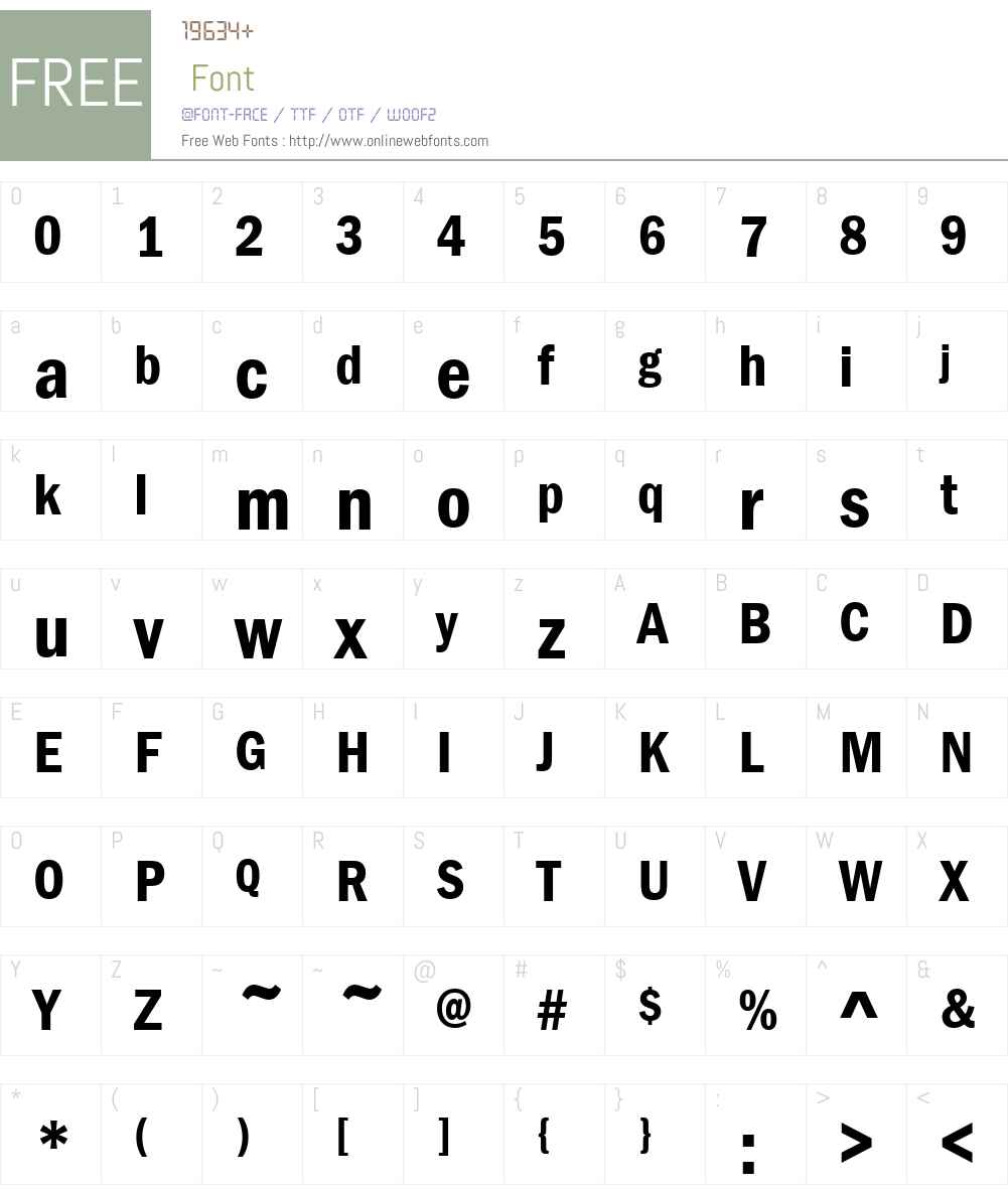 Franklin Gothic Demi Cond Font Screenshots