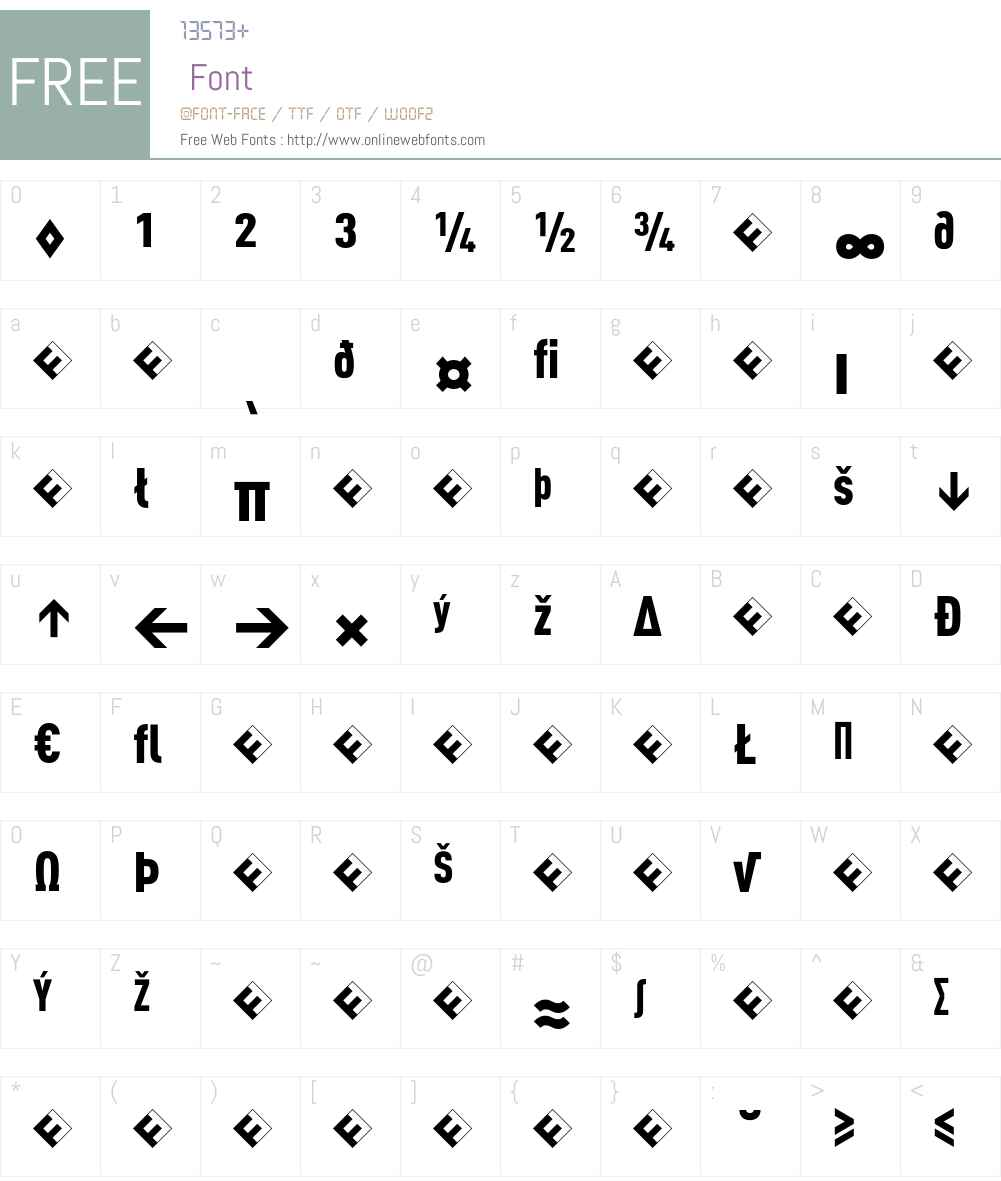 DINCond-BlackExpert Font Screenshots