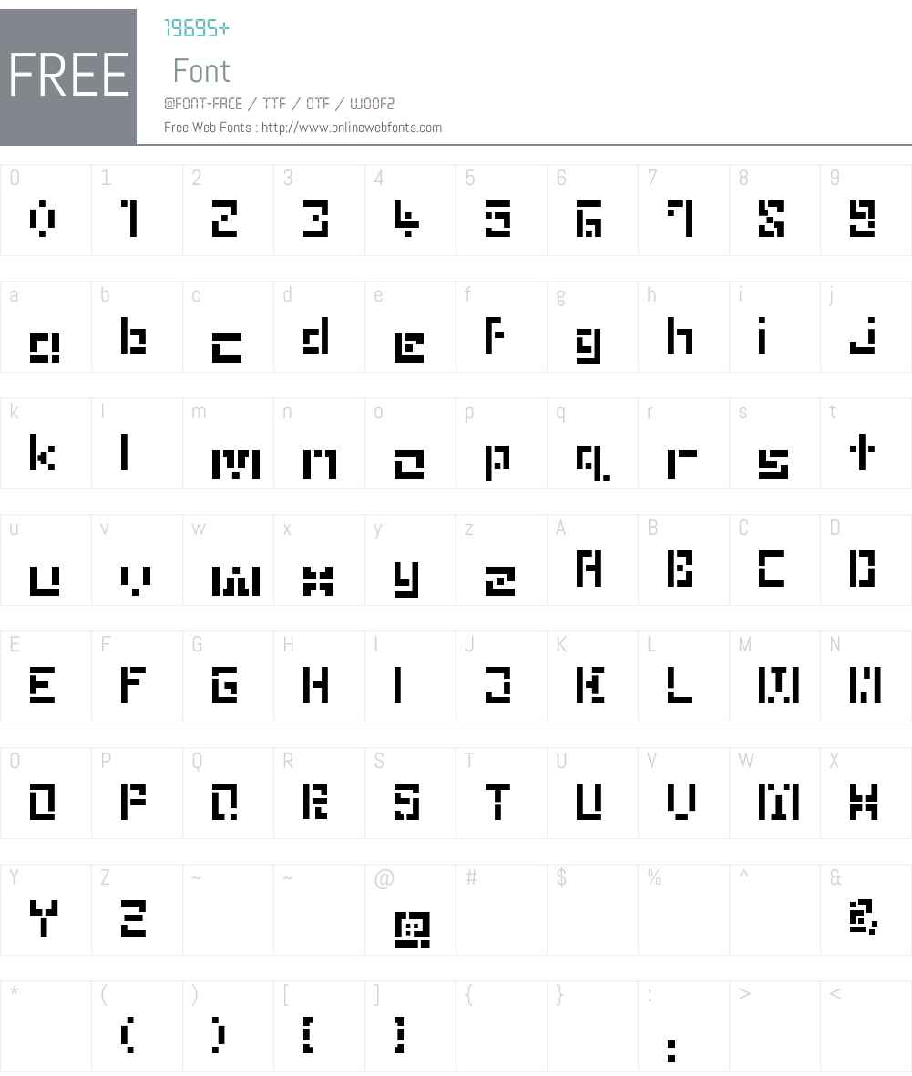 Puzzle Font Screenshots