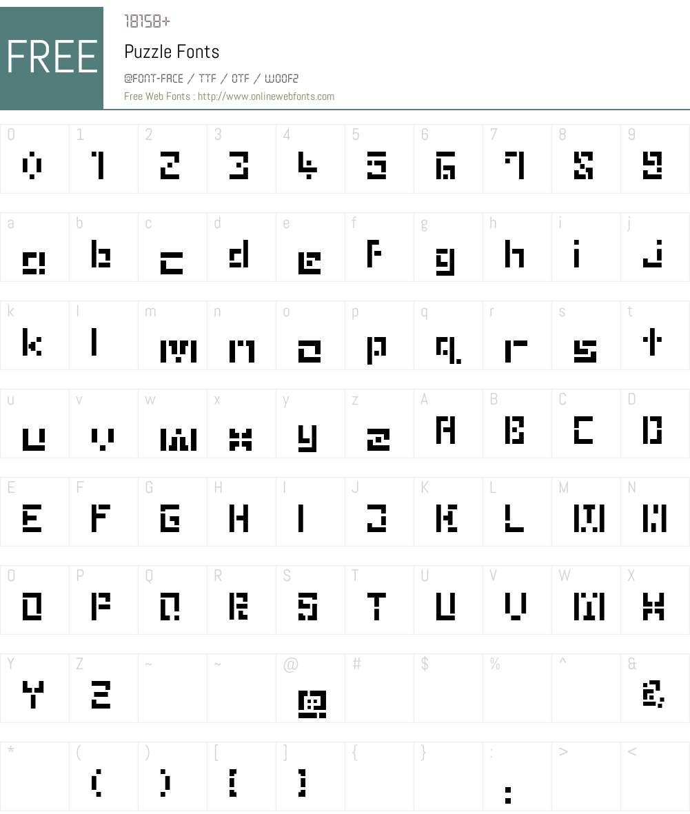 Puzzle Font Screenshots