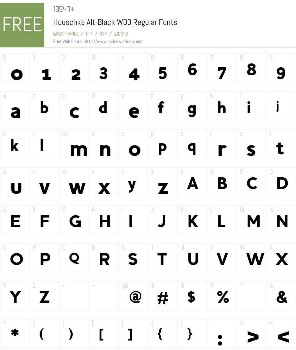 Houschka Alt Font Screenshots