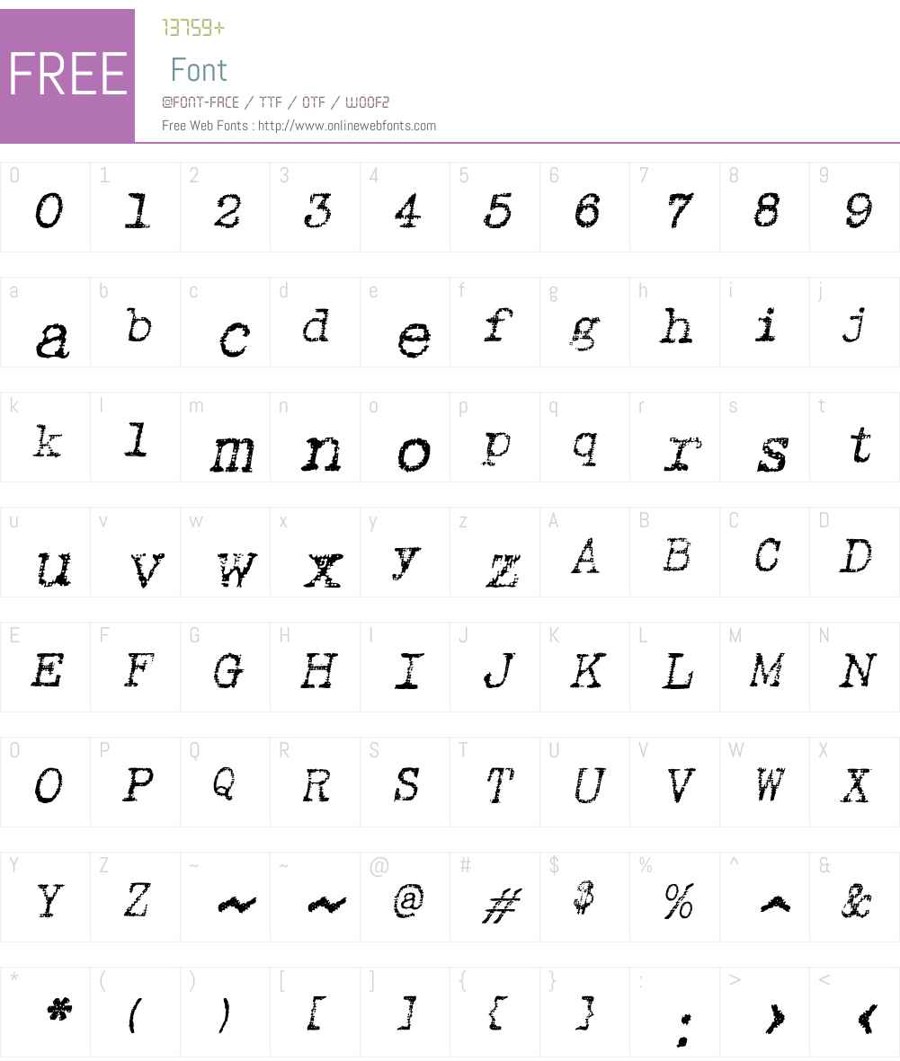 Linenstroke Font Screenshots