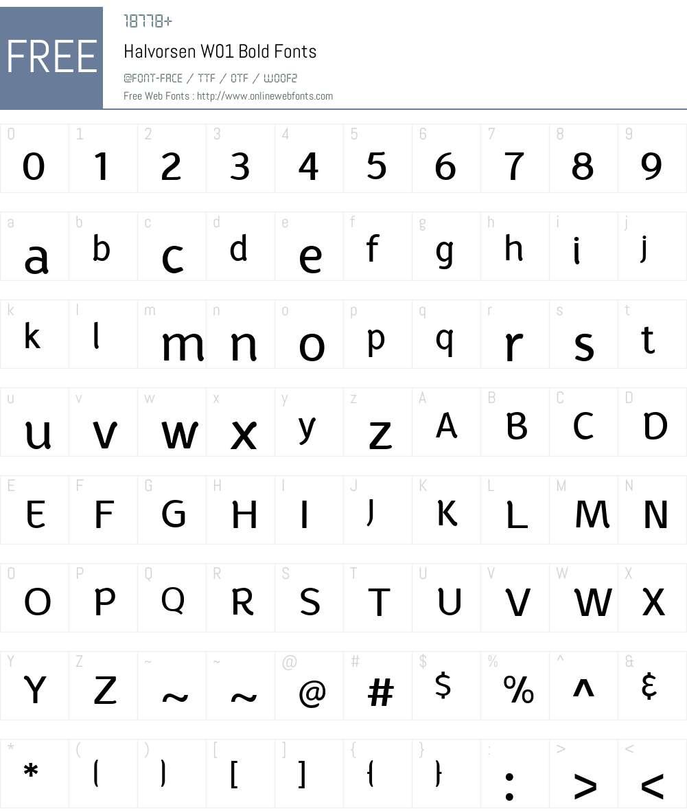 HalvorsenW01-Bold Font Screenshots