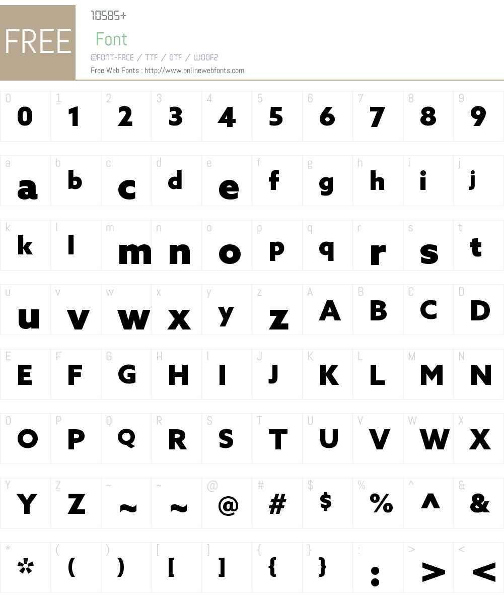 Azo Sans Bk Font Screenshots